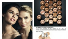 Bianca Balti and Natasha Poly front L'Oreal Paris 'True Match' makeup campaign.