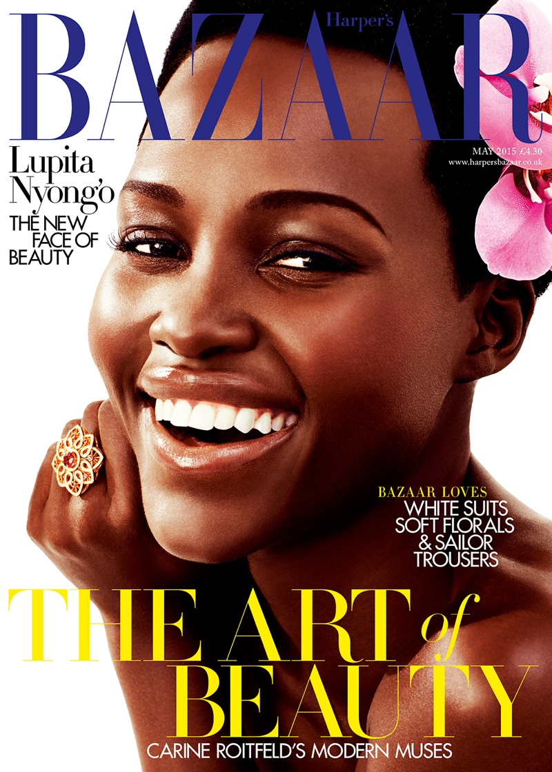 Lupita Nyong'o graces the May 2015 cover from Harper's Bazaar UK photographed by Alexi Lubormirski
