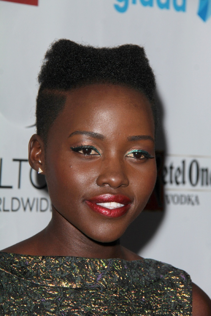 Oscar-winner Lupita Nyong'o rocks her natural hair in a short, tapered cut. Photo: Helga Esteb / Shutterstock.com