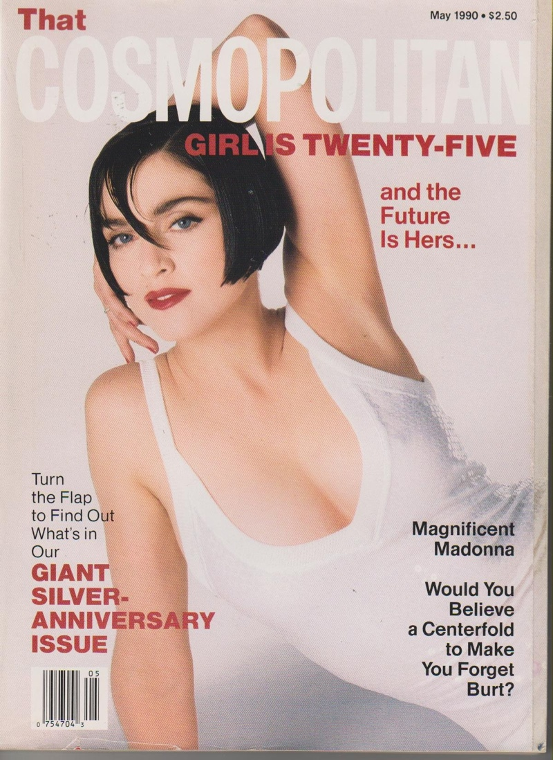 Madonna on Cosmopolitan May 1990 cover. Photo: Francesco Scavullo