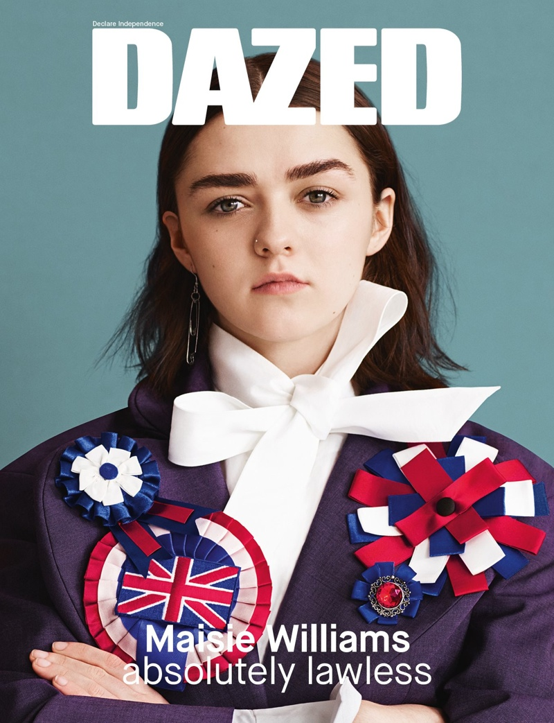 Maisie Williams covers the spring-summer 2015 cover of Dazed Magazine