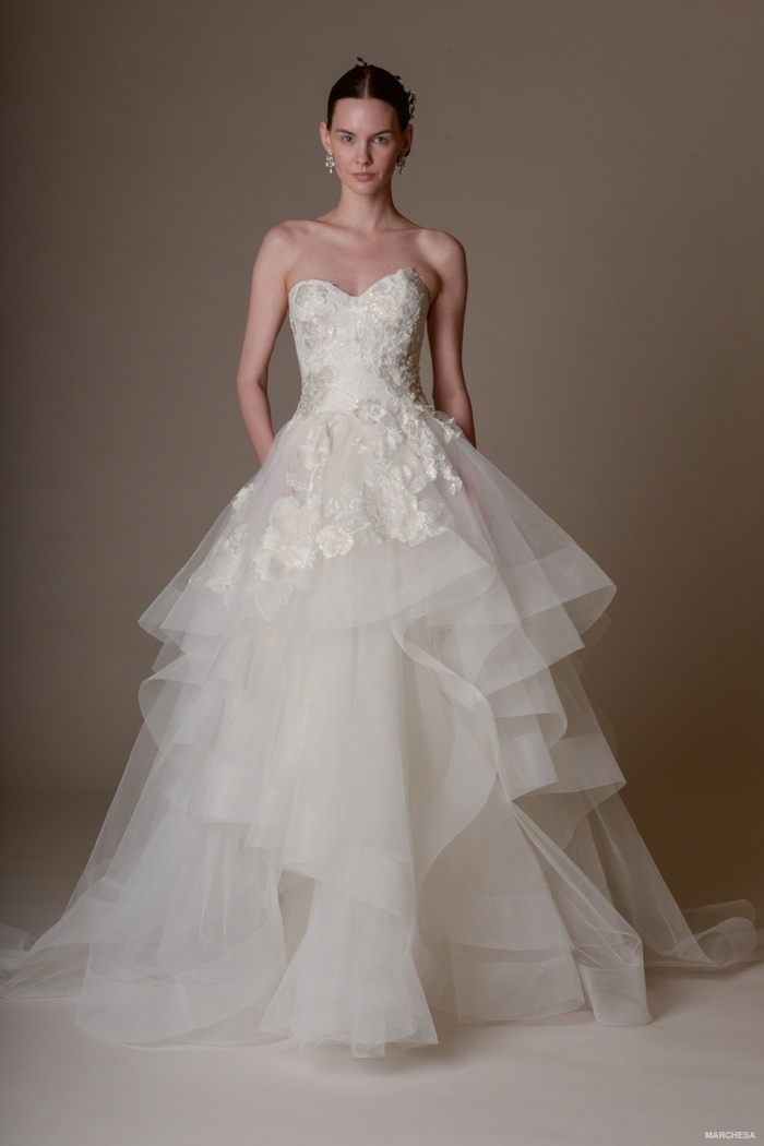 A look from Marchesa's spring-summer 2016 bridal collection.