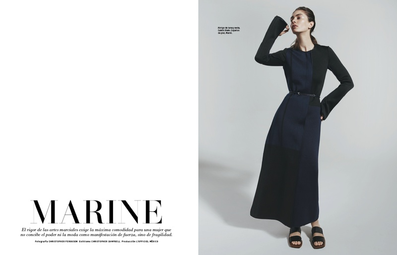 Marine Deleeuw Models Eastern-Inspired Looks for L'Officiel Mexico