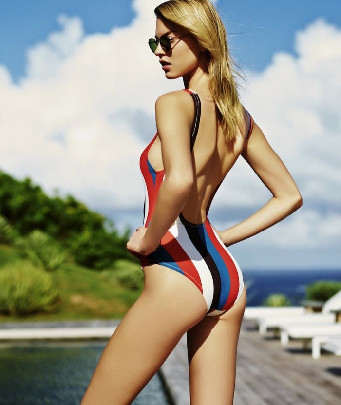 Martha Hunt fronts Solid & Striped's spring-summer 2015 campaign