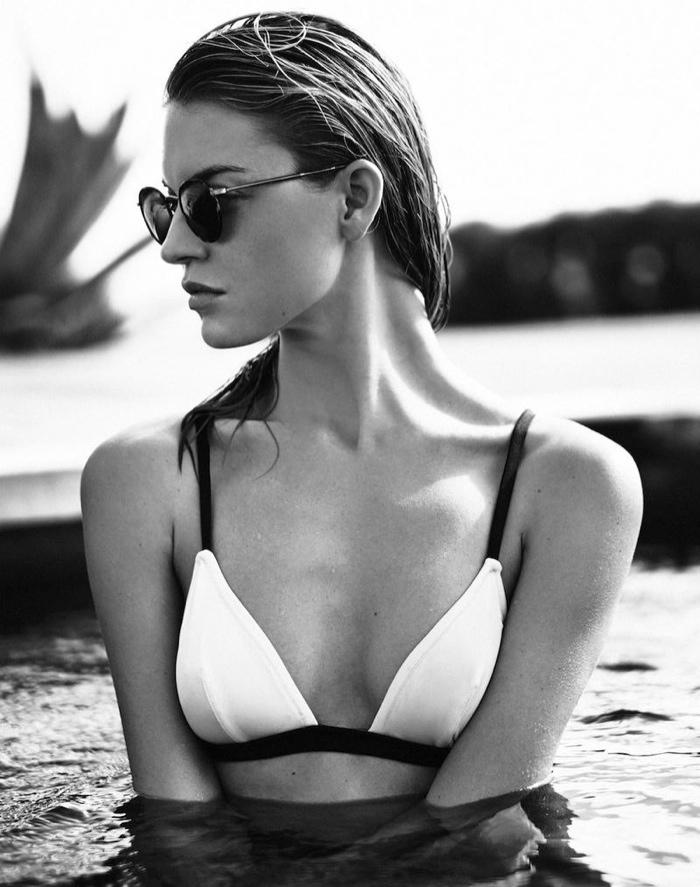 Martha rocks a white bikini top