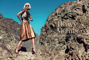 Heavy Metals: Paulina Models Metallic Looks for Stylist Arabia