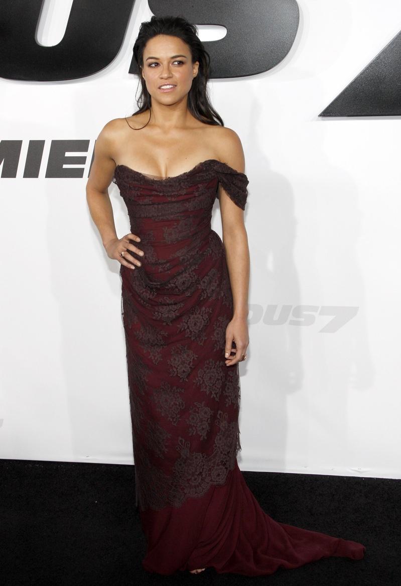 Michelle Rodriguez donned a Vivienne Westwood gown. Photo: David Grabber / PR Photos