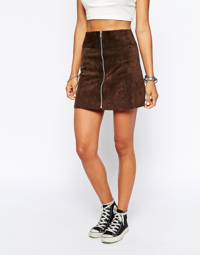 Shop 1970s Inspired Suede Skirts
