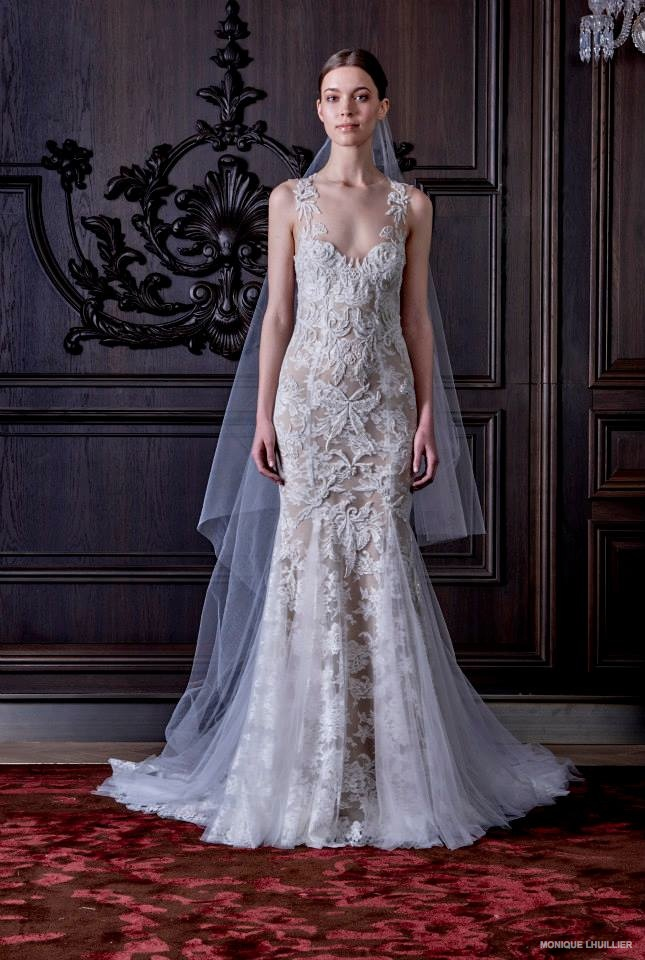 Monique lhuillier 2016 spring summer wedding dresses for Dresses for spring wedding