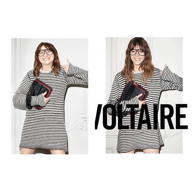 Nathalie Croquet spoofs a Zadig & Voltaire ad with Freja Beha Erichsen