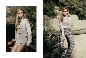 Nicola Peltz Wears Spring Neutrals for InStyle Feature
