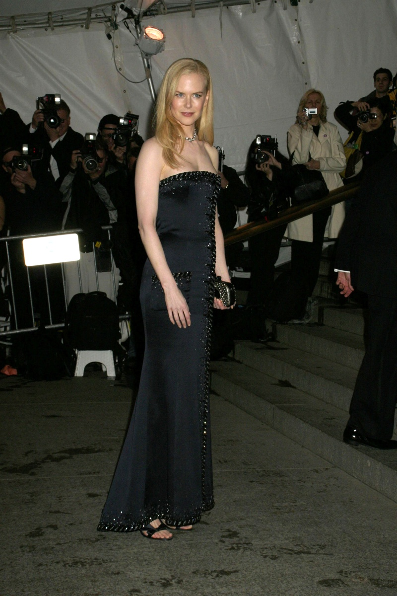 Nicole Kidman looked radiant in an embroidered Chanel dress at the 2005 Met Gala featuring a Chanel exhibit. She was also the co-host of the event. Photo: Everett Collection / Shutterstock.com