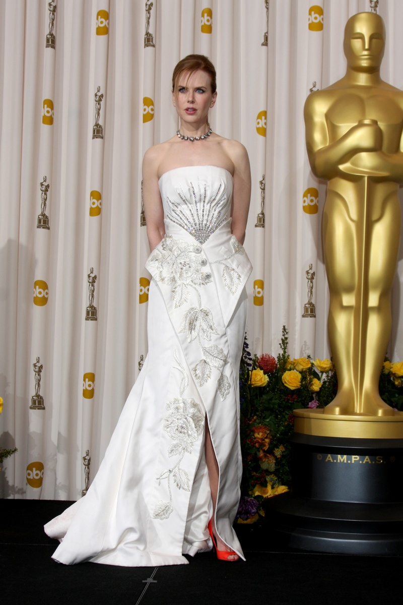 Nicole Kidman sparkled in a white Dior gown with silver embroidery at the 2011 Oscars. Helga Esteb / Shutterstock.com