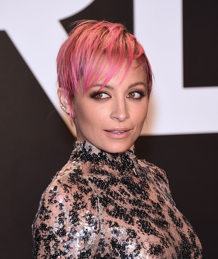 Nicole Richie debuted a pink pixie haircut earlier this year. Photo: DFree / Shutterstock.com