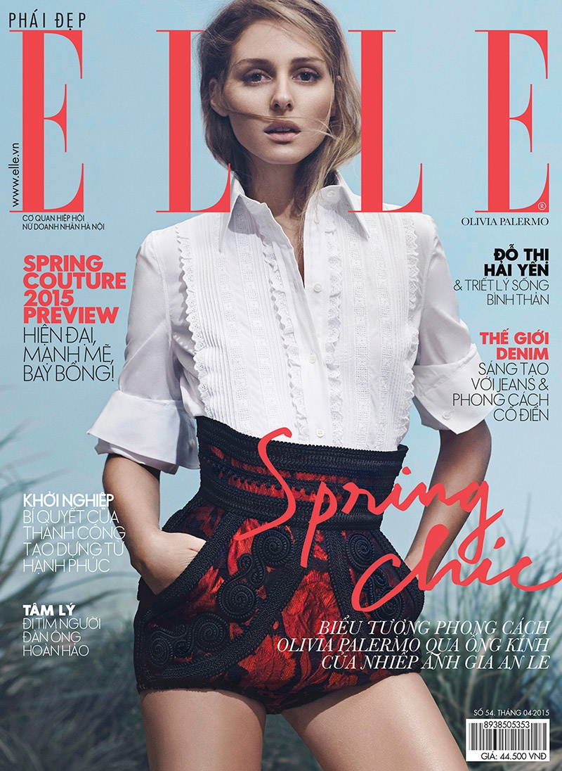 Olivia Palermo graces the April 2015 cover of ELLE Vietnam