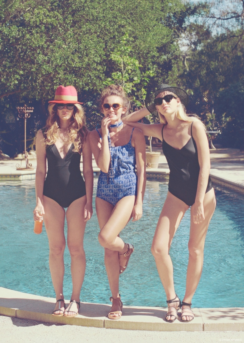 b9395f0e466c6 A spotted one-piece swimsuit gives 90s vibes One-pieces look to be on trend  for & Other Stories' summer swim line