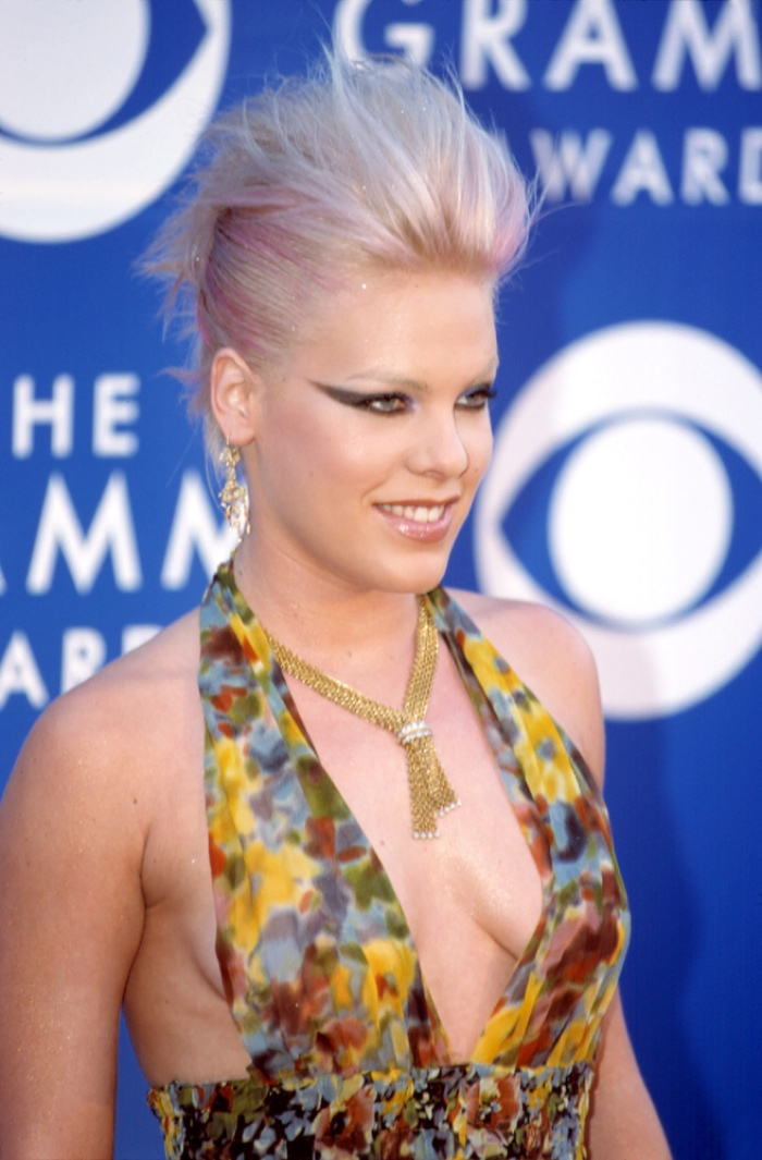 True to her name, pop singer Pink has been known to sport pink hair. Photo: Everett Collection / Shutterstock.com