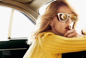Masha Novoselova Models Trendy Sunglasses for Madame Shoot
