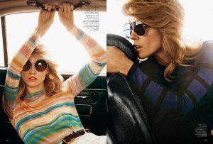 Masha Novoselova Models Trendy Sunglasses for Madame Shoot