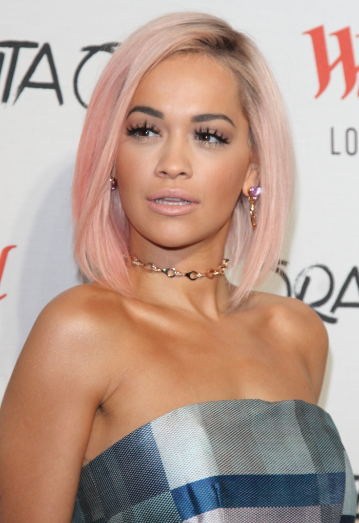 Rita Ora is also known for her frequent hair changes. Here she is with a daring pink bob. Photo: Landmark / PR Photos