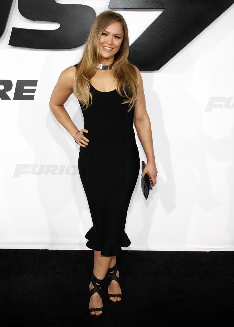 Ronda Rousley donned a black dress. Photo: David Grabber / PR Photos