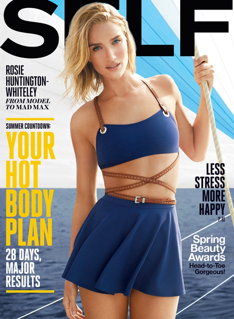 Rosie Huntington-Whiteley graces the May 2015 cover of Self Magazine