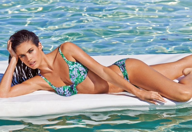 The Portuguese model soaks up the sun in Calzedonia's swimsuit looks