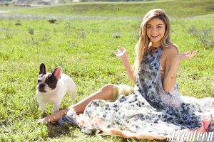 Sarah Hyland Wears Spring Looks in Seventeen Cover Feature