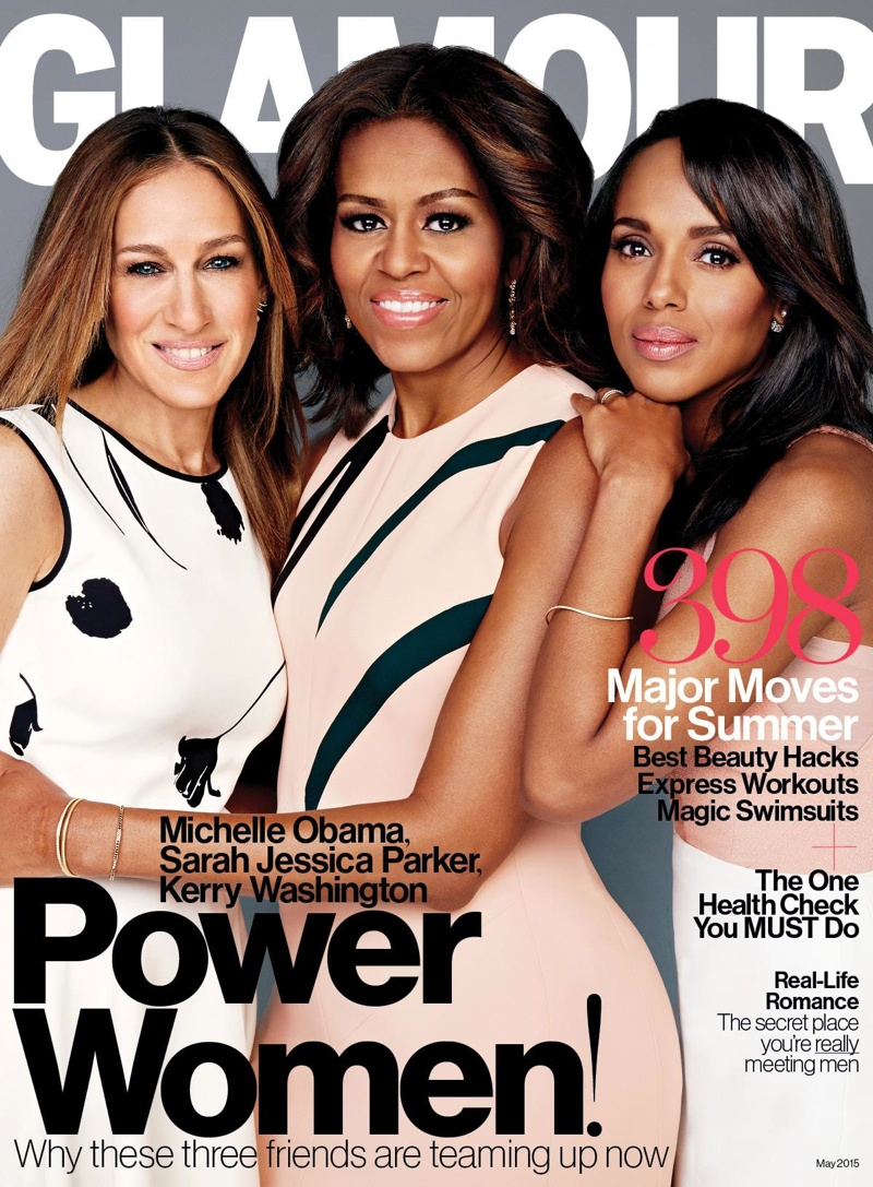 Sarah Jessica Parker, Michelle Obama and Kerry Washington cover Glamour May 2015 issue.