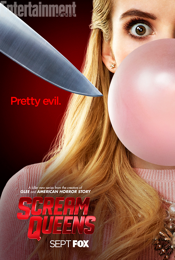 Emma Roberts on 'Scream Queens' poster