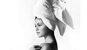 Selena Gomez goes nearly naked for Mario Testino's 'Towel Series'. Photo via Instagram.
