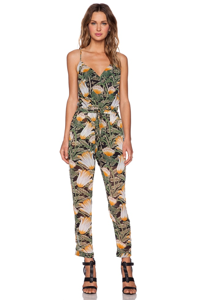Shades of Grey by Micah Cohen Spaghetti Strap Jumpsuit Jungle Flower available for $198.00