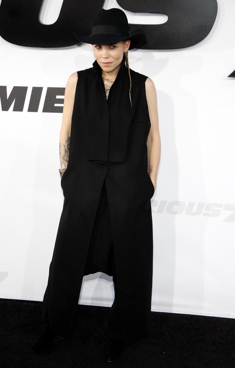 Skylar Grey wore an all black look. Photo: David Grabber / PR Photos