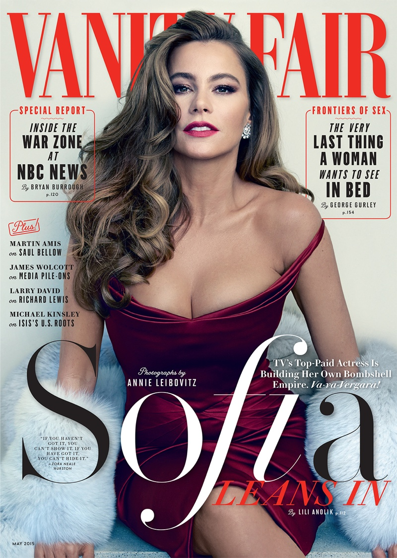 Sofia Vergara graces the May 2015 cover of Vanity Fair. Photo: Annie Leibovitz