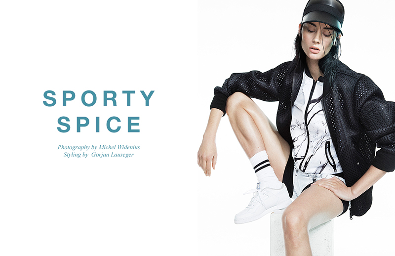 Luna Green stars in 'Sporty Spice' photographed by Michel Widenius and styled by Gorjan Lauseger