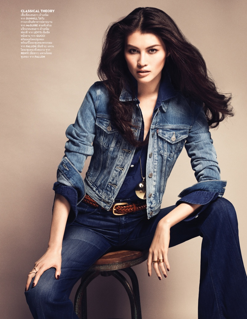 Sui He is All About Denim for Vogue Thailand