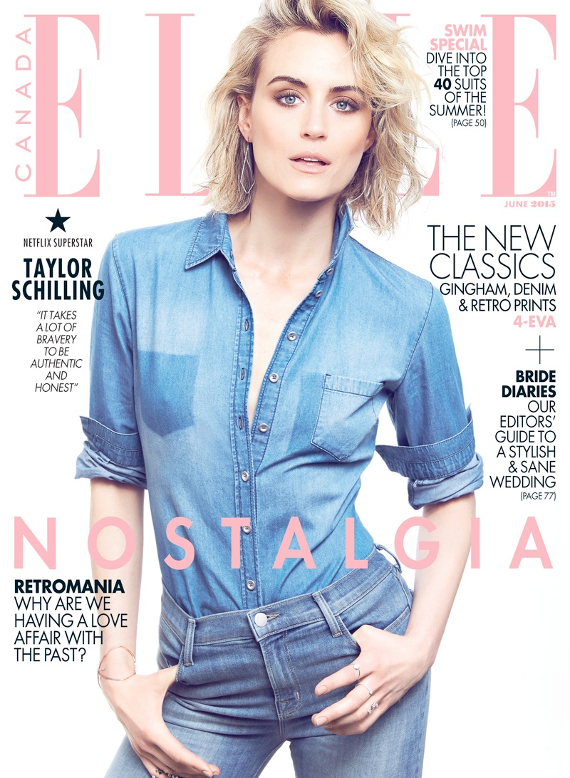 Taylor Schilling lands the June 2015 cover of ELLE Canada