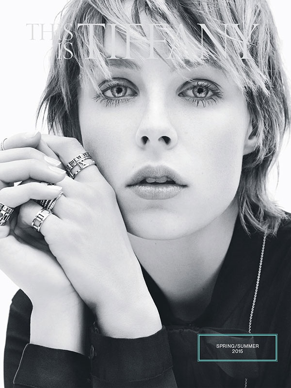 Edie Campbell poses for Tiffany & Co. Spring/Summer 2015 Campaign