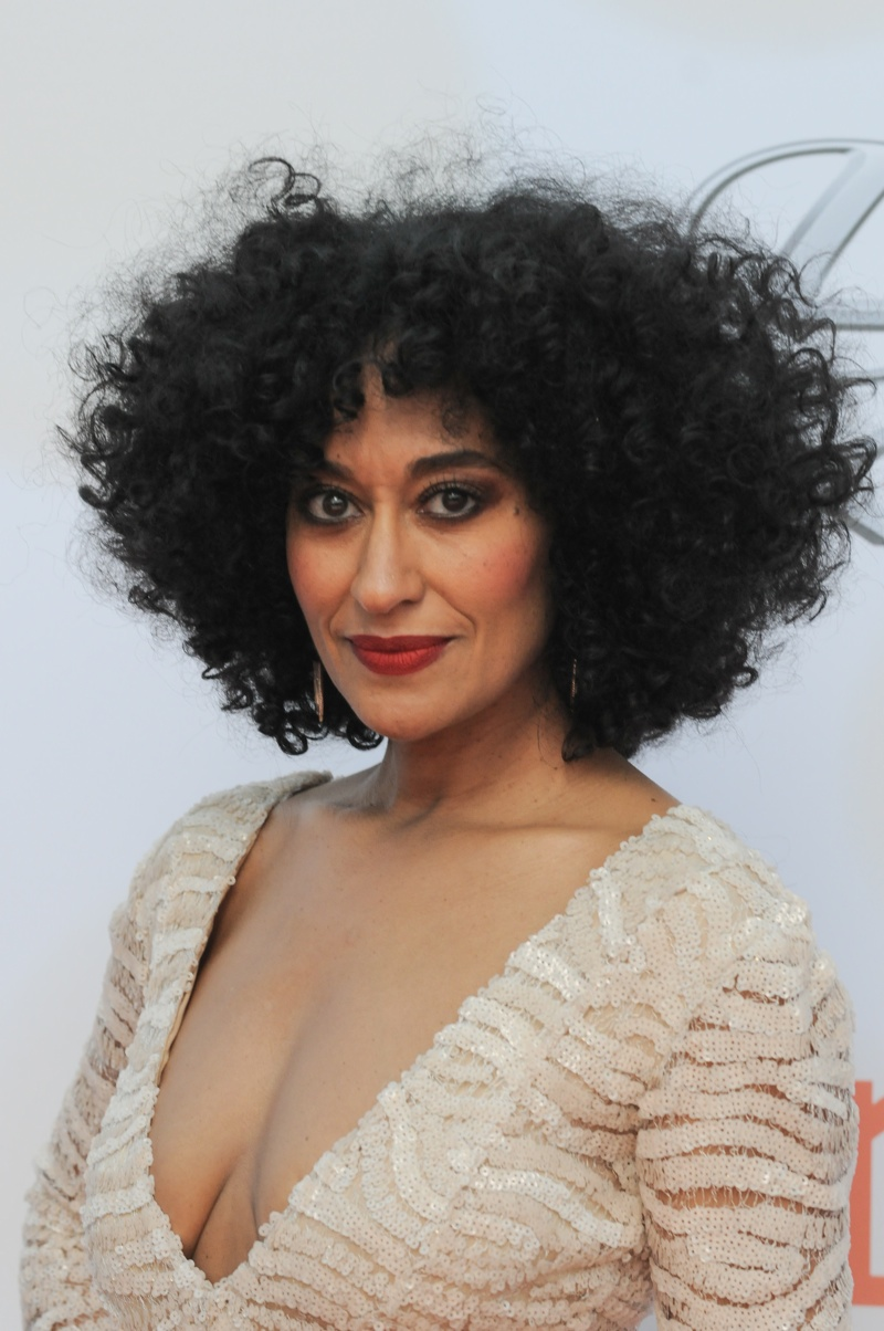 Tracee Ellis Ross rocks her natural hair on the ABC comedy, 'Black-ish'. Photo:  Aaron J. Thornton / PR Photos
