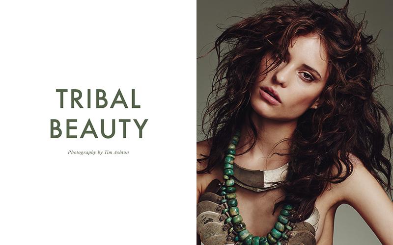 Bruna Bueno stars in 'Tribal Beauty' by Tim Ashton