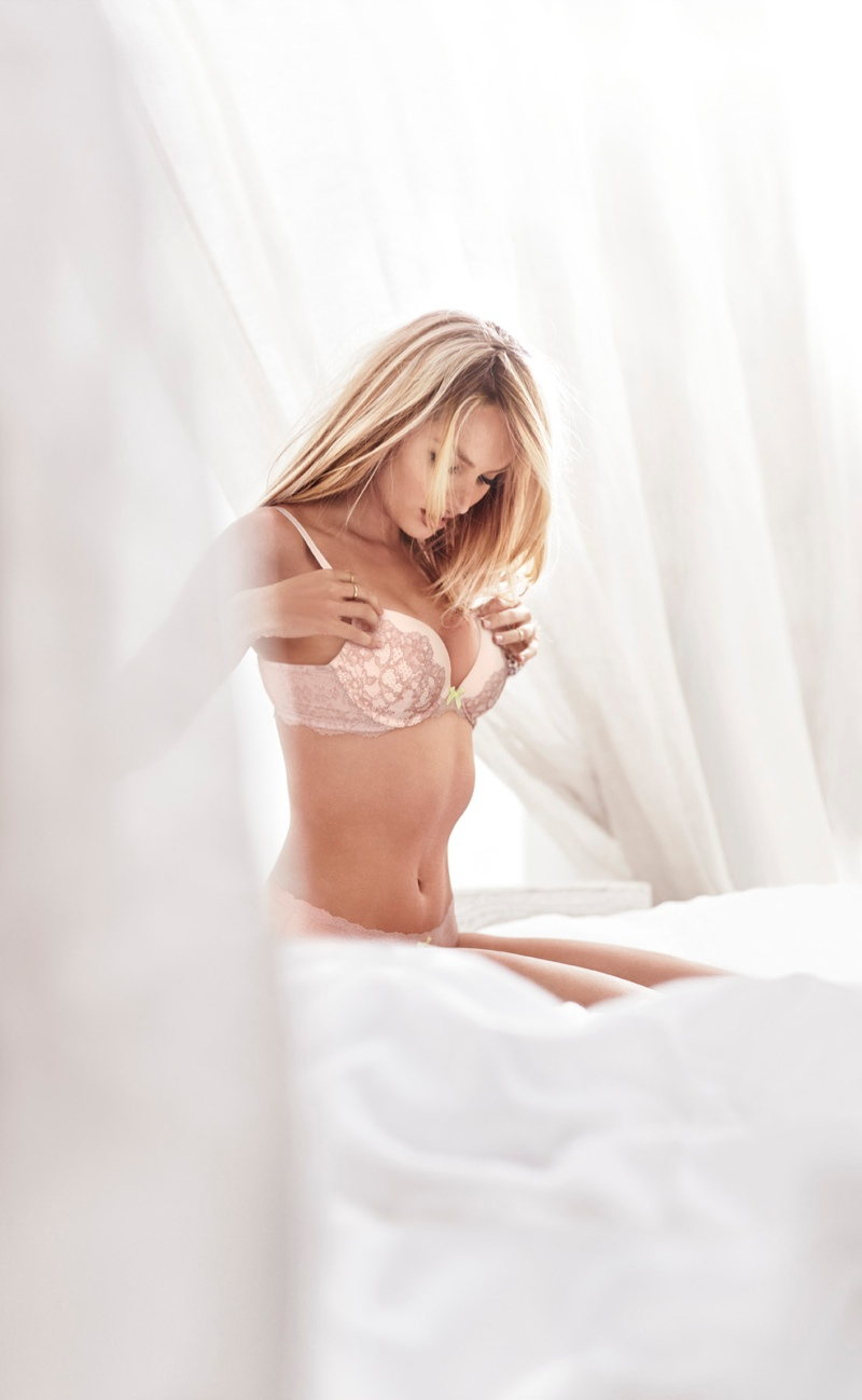 Candice wears the Dream Angels push up bra