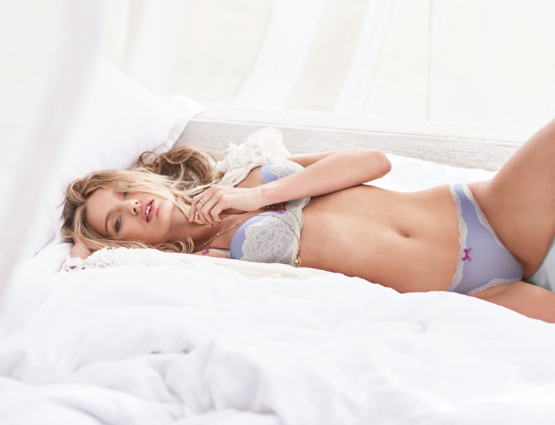 Romee Strijd also appears in the lingerie retailer's Dream Angels shoot