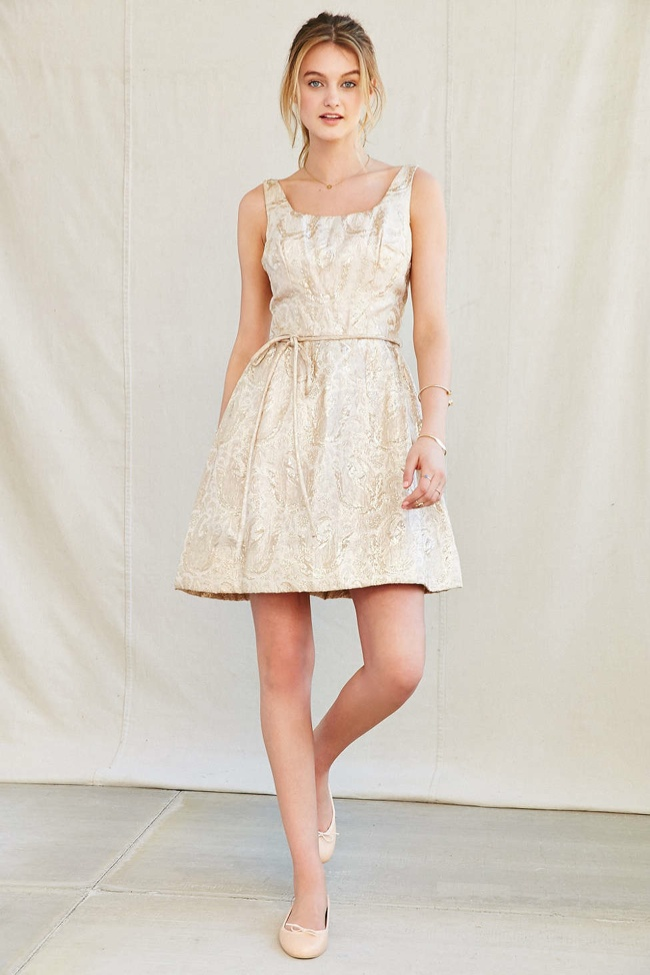 Vintage Brocade Pocket Party Dress available for $549