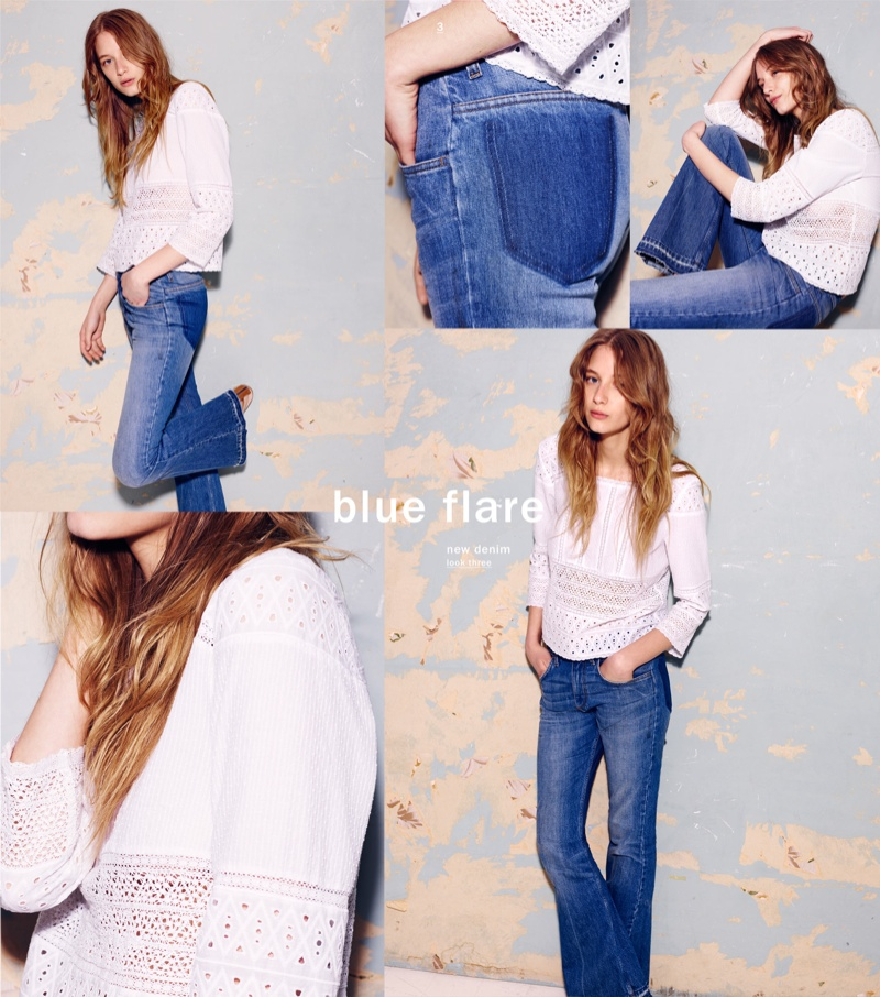 70s style flared denim is back in style