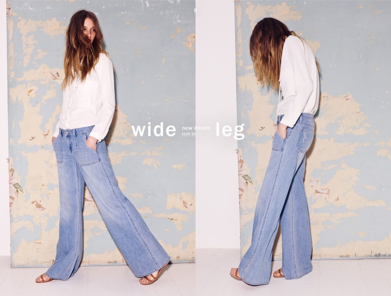 A wide-legged cut is in for spring