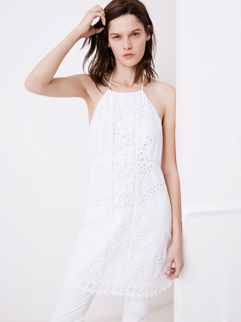 This white dress from Zara is certain to bring some cool into the warm month