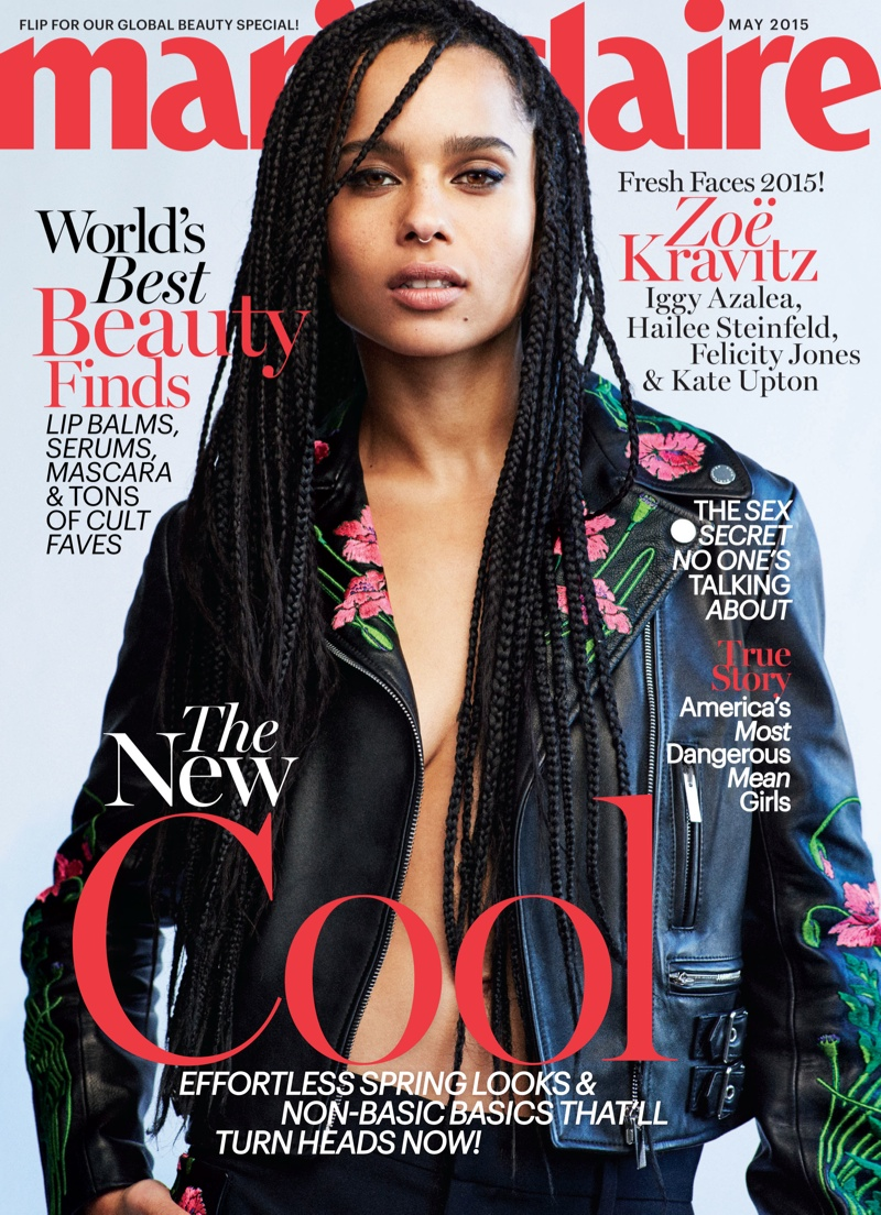 Zoe Kravitz on Marie Claire May 2015 Cover