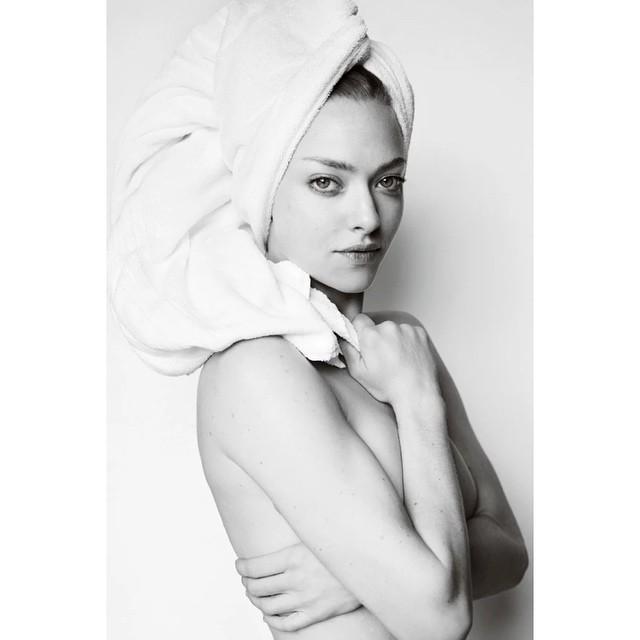 Amanda Seyfried goes topless for Testino's 'Towel Series' on Instagram