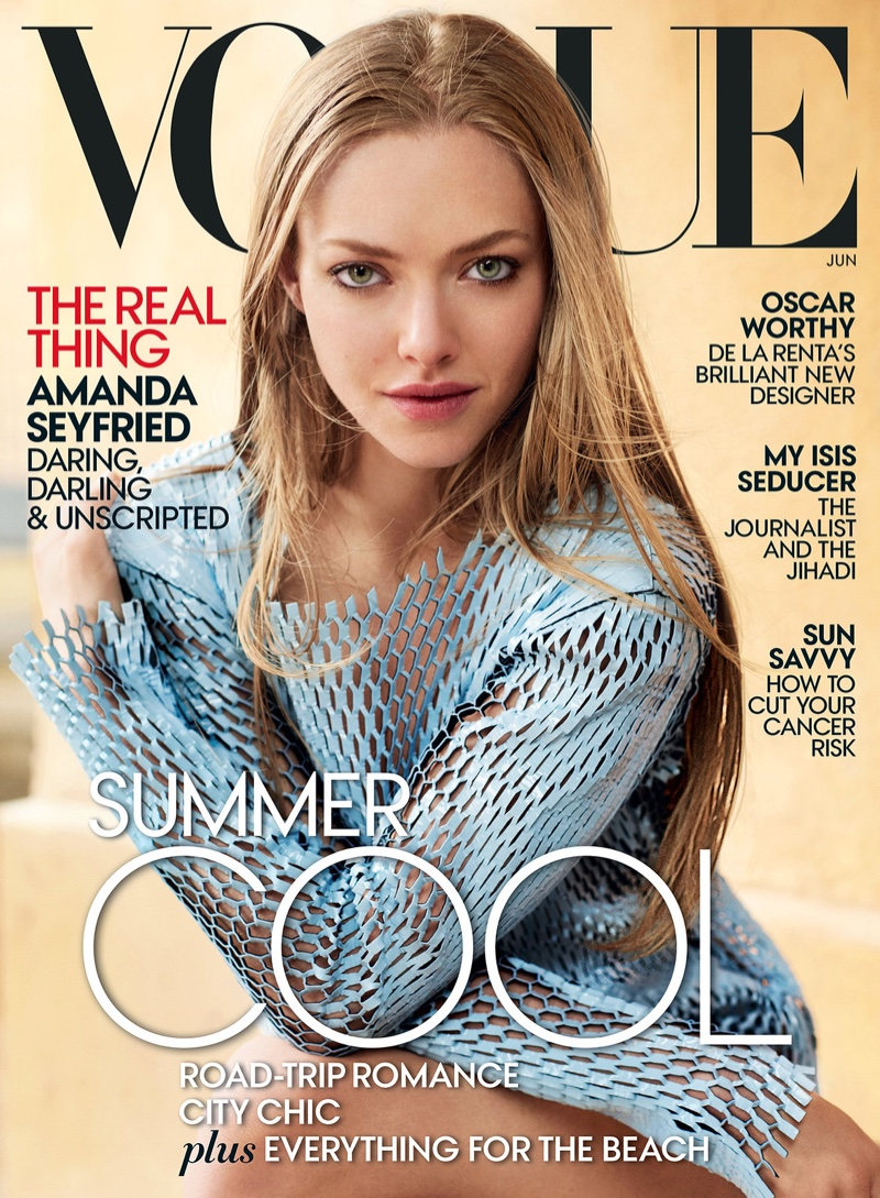Amanda Seyfried graces the June 2015 issue of Vogue photographed by Mario Testino