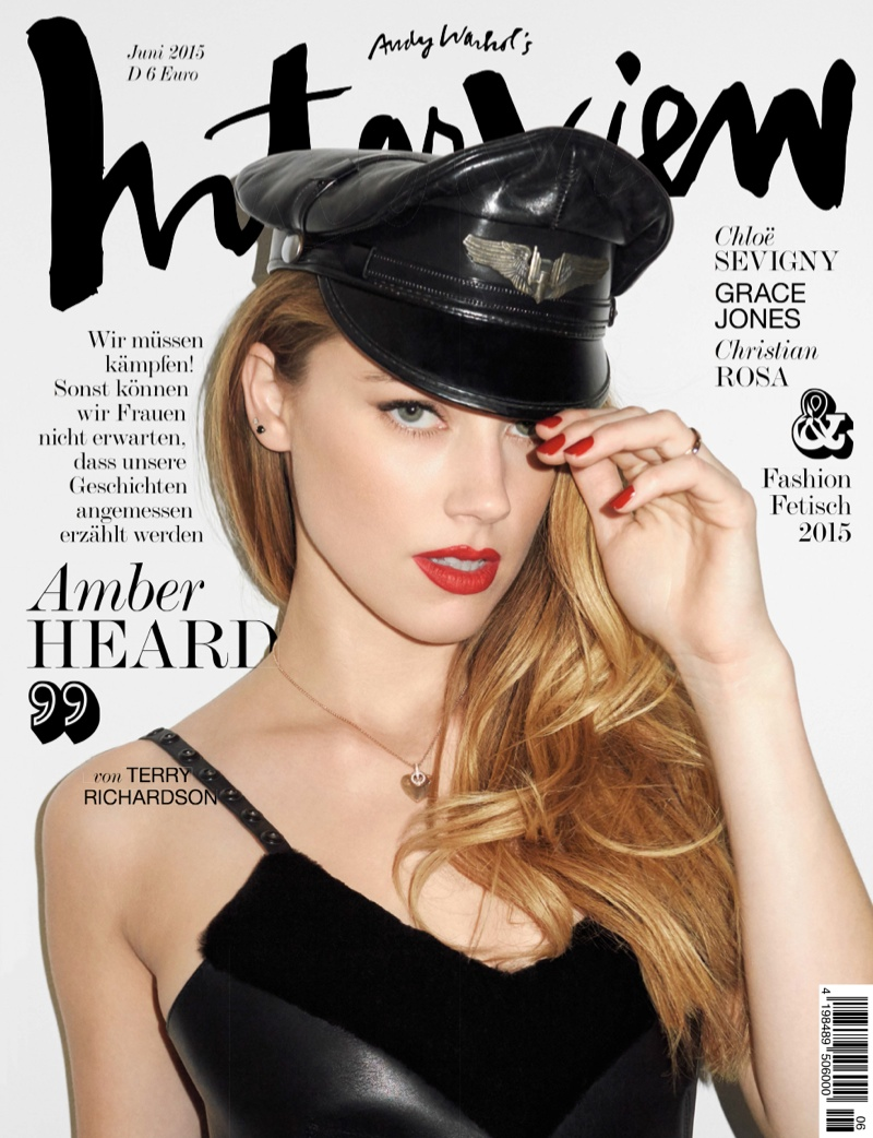 Amber Heard lands the June 2015 cover of Interview Germany